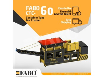 FABO CTC-60 CONTAINER TYPE JAW CRUSHER - дробилка